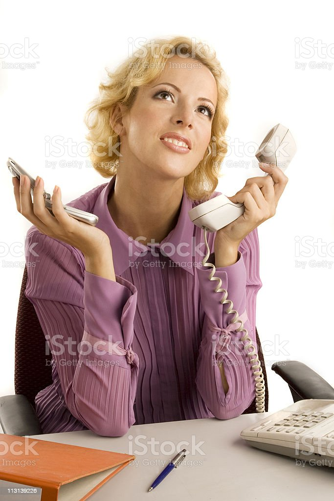 Dreaming businesswoman. stock photo