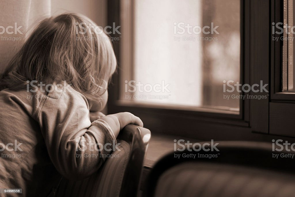Dreaming child royalty-free stock photo