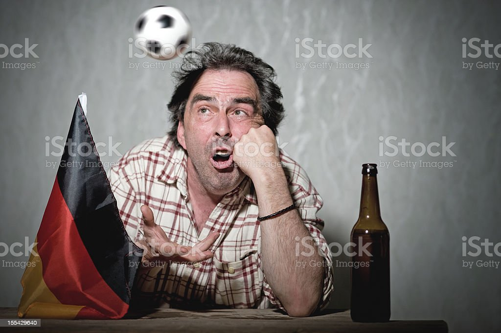 Dreaming German Soccer Fan FIFA Wold Cup stock photo