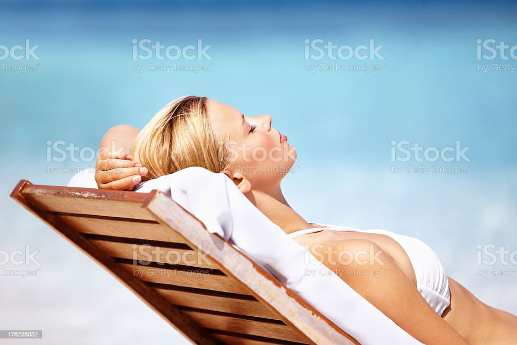 Dreaming in paradise stock photo