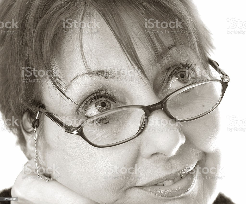 Dreaming Lady royalty-free stock photo