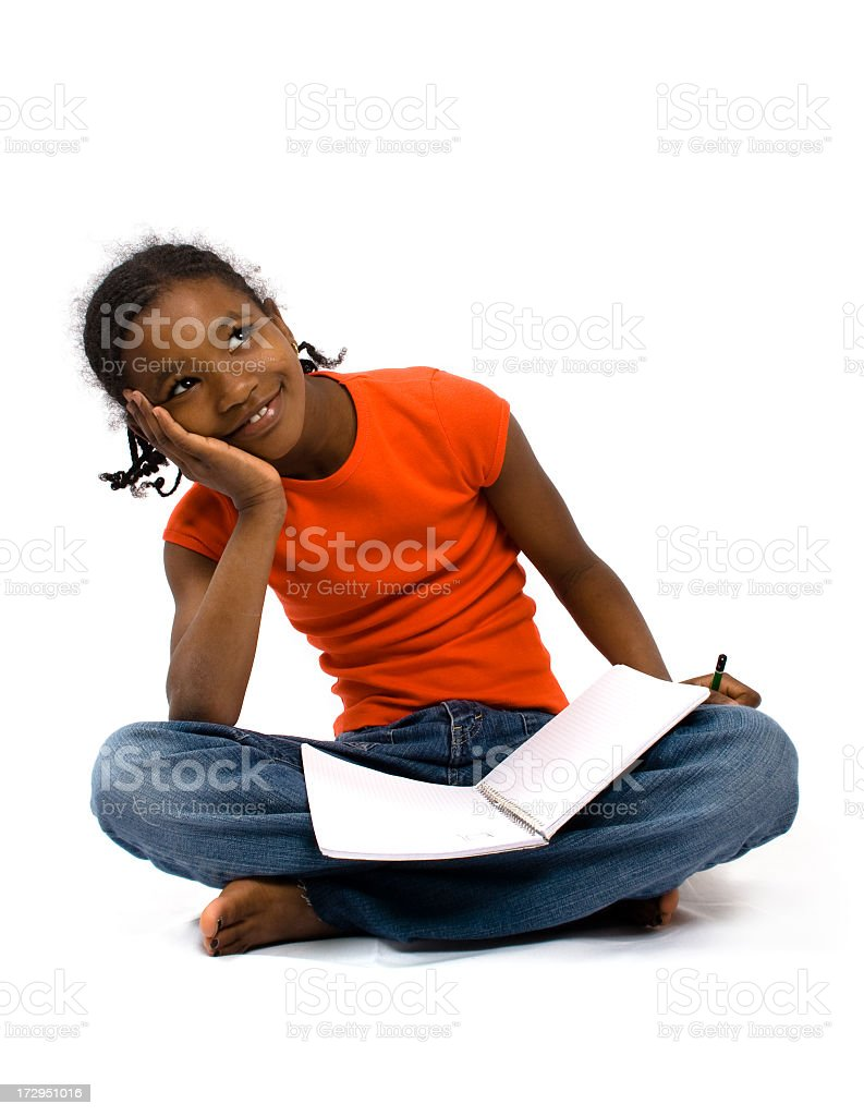 Dreaming Little Girl royalty-free stock photo