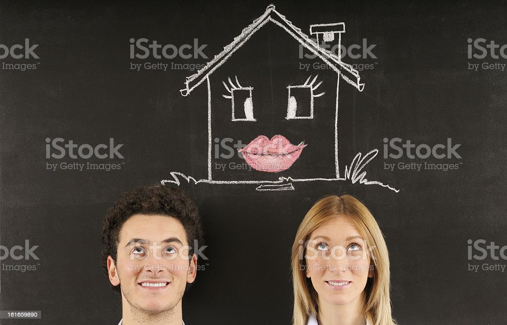 Dreaming new house royalty-free stock photo