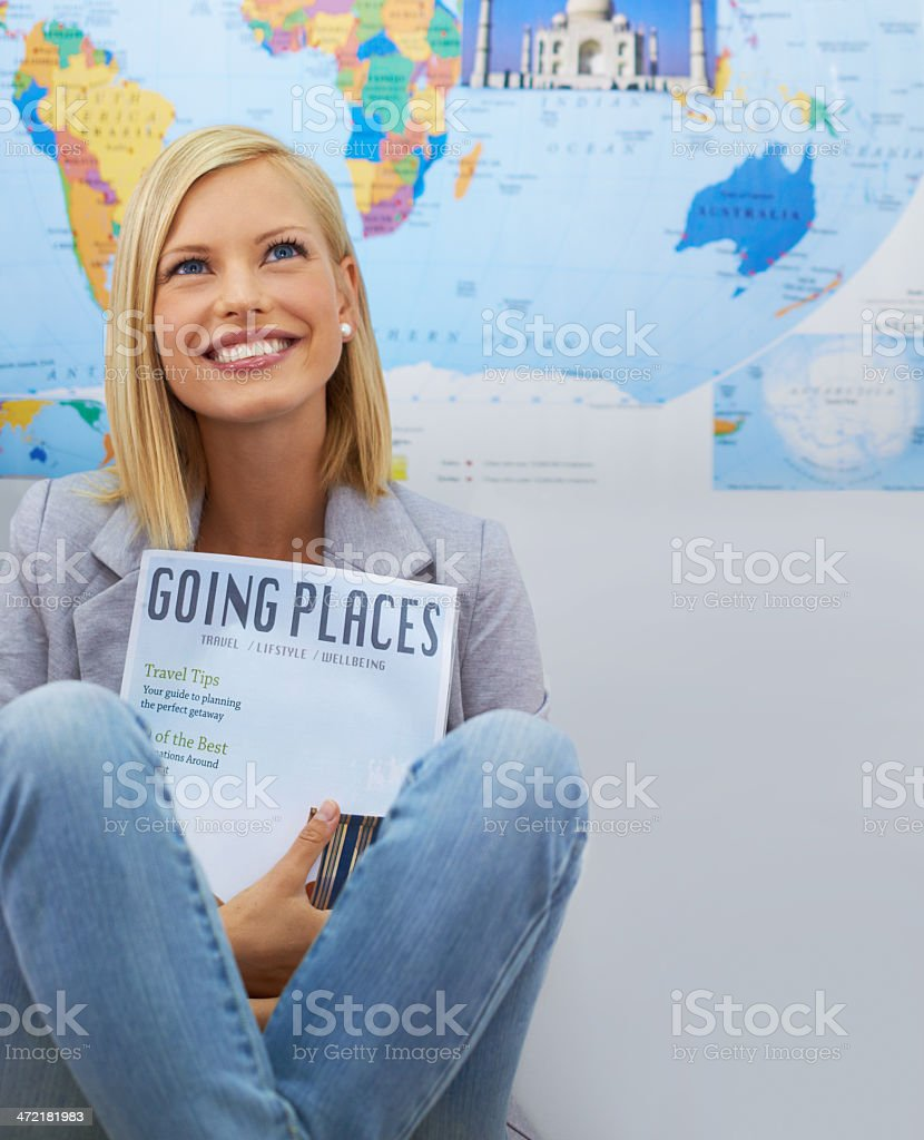 Dreaming of a culturally enriching experience stock photo