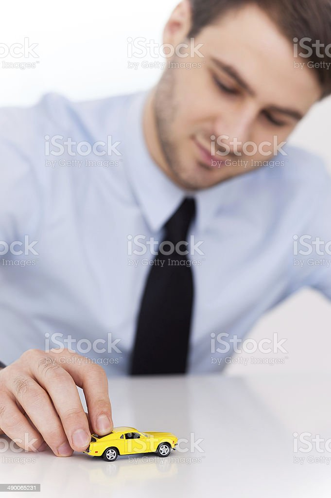 Dreaming of a new car. stock photo