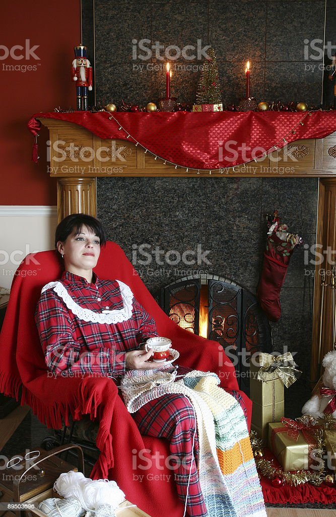 Dreaming of Christmas royalty-free stock photo