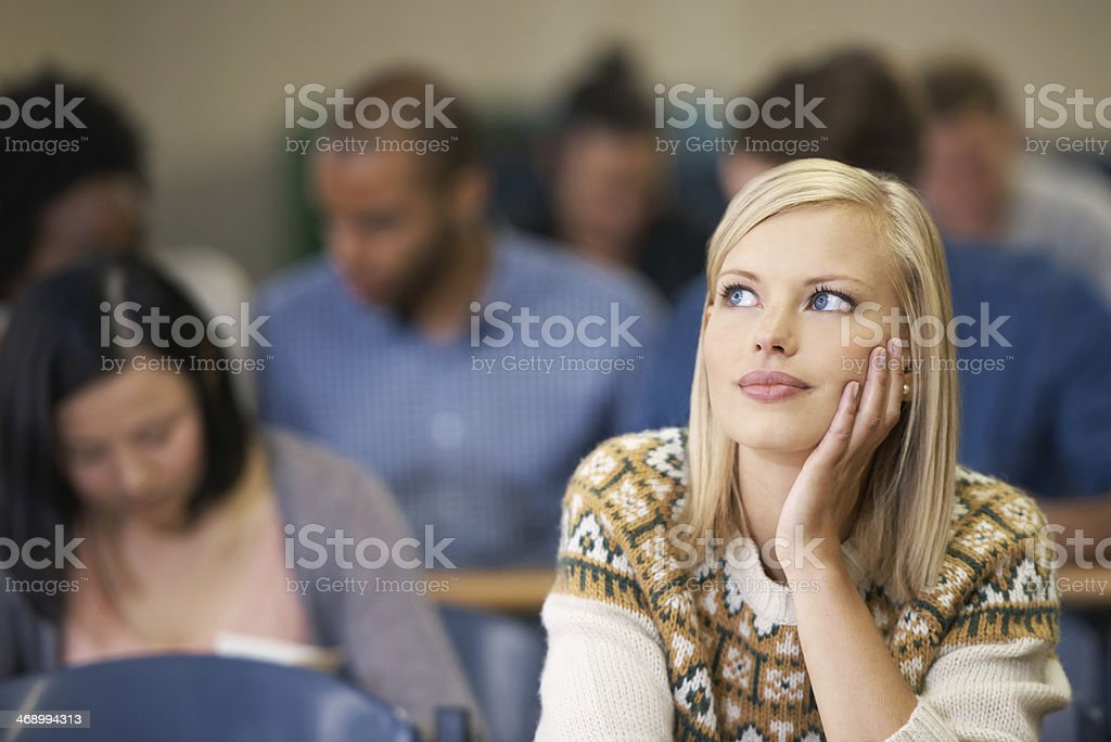 Dreaming of her future... stock photo
