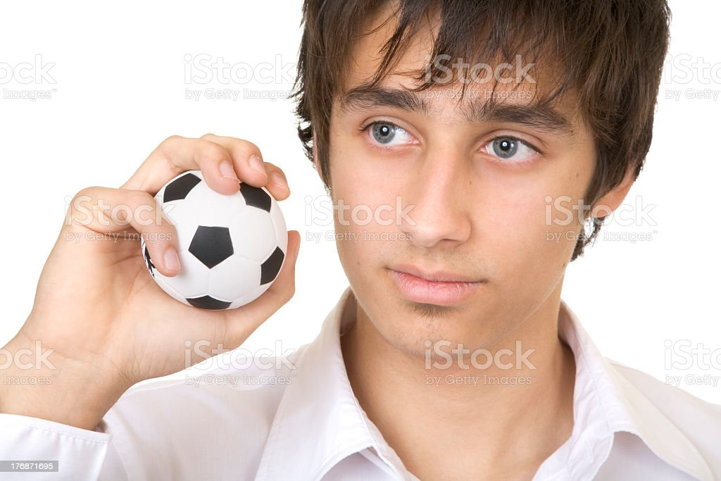 dreaming of playing football royalty-free stock photo