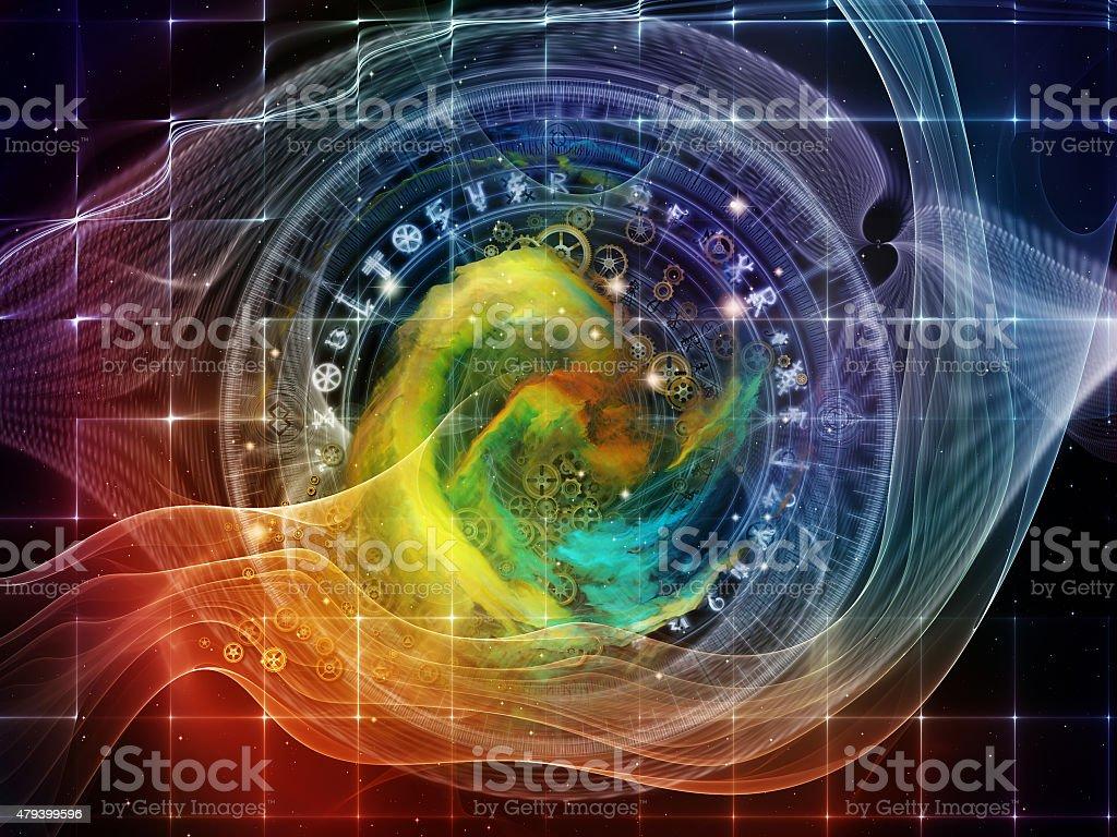 Dreaming of Sacred Geometry vector art illustration