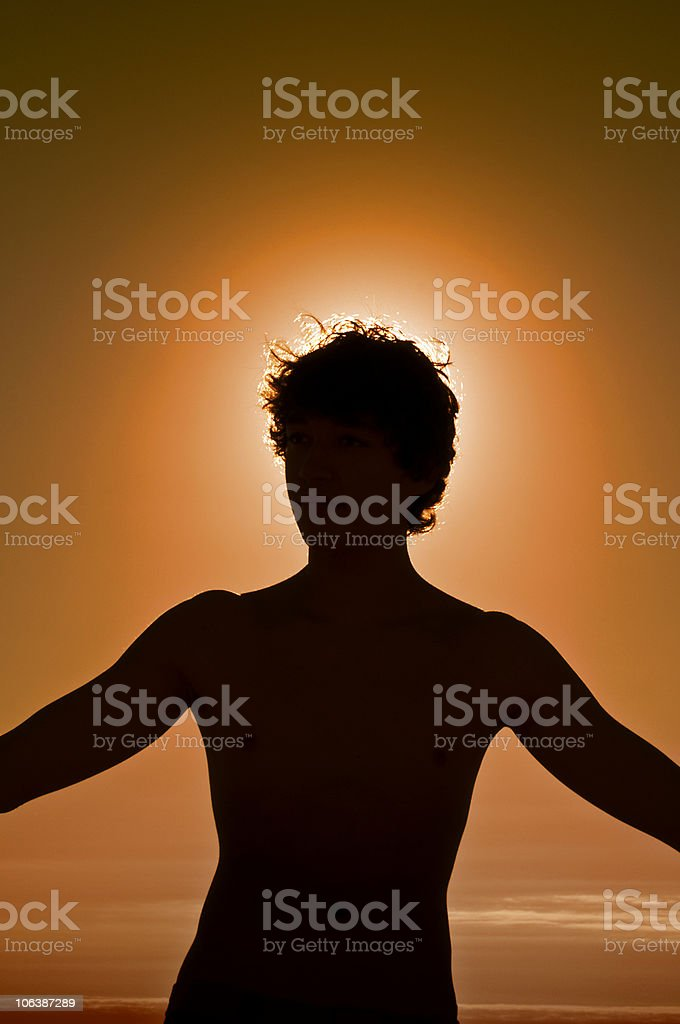 Dreaming of the Sun. stock photo