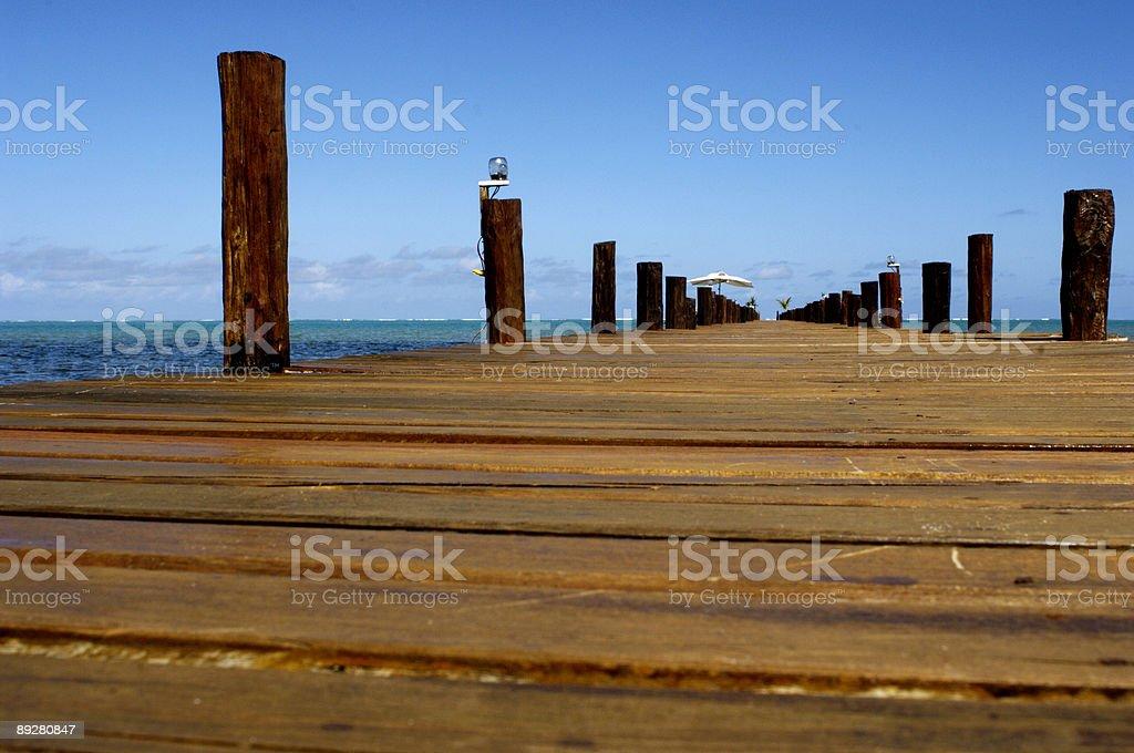 dreaming pontoon royalty-free stock photo