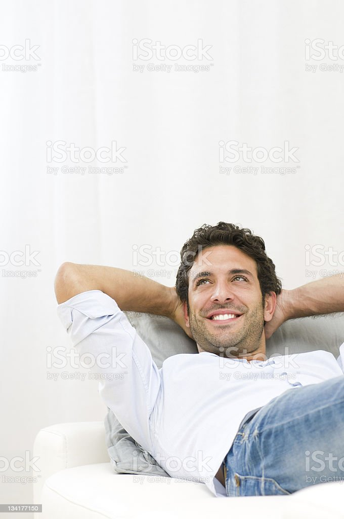 Dreaming positive royalty-free stock photo