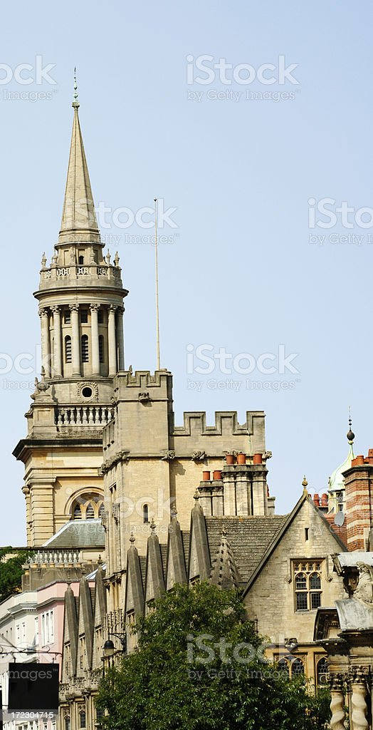 Dreaming spire - Lincoln College, Oxford University royalty-free stock photo