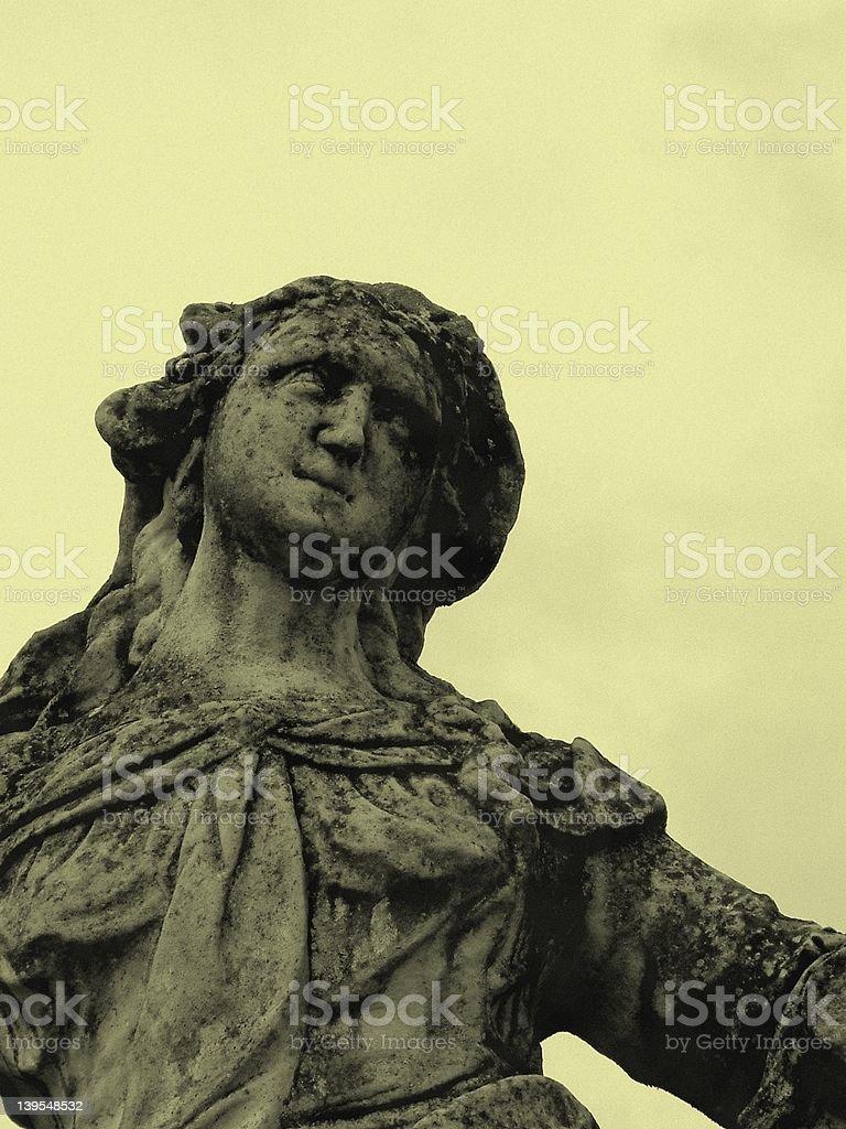 Dreaming stone-woman stock photo