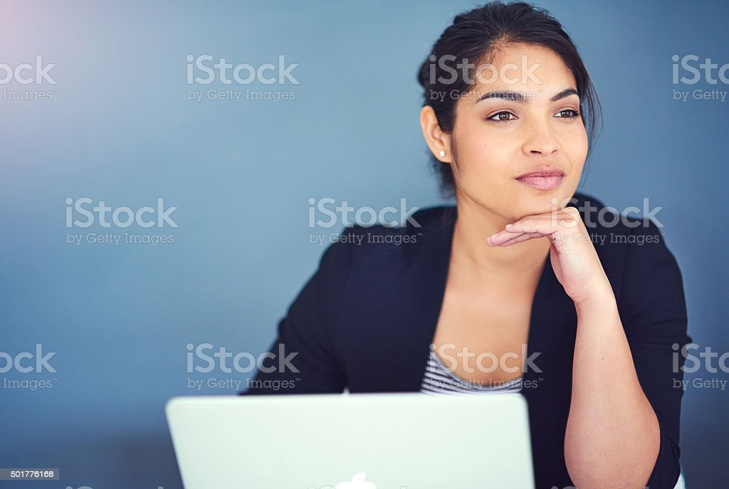 Dreaming up new business ideas stock photo