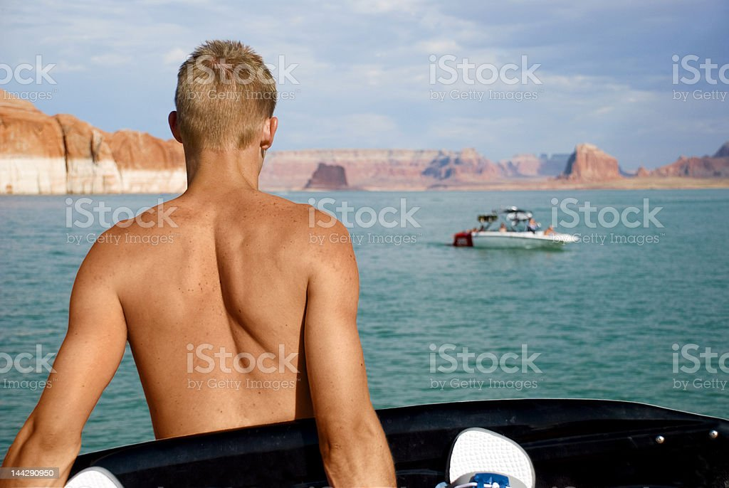 Dreaming Wakeboarder royalty-free stock photo