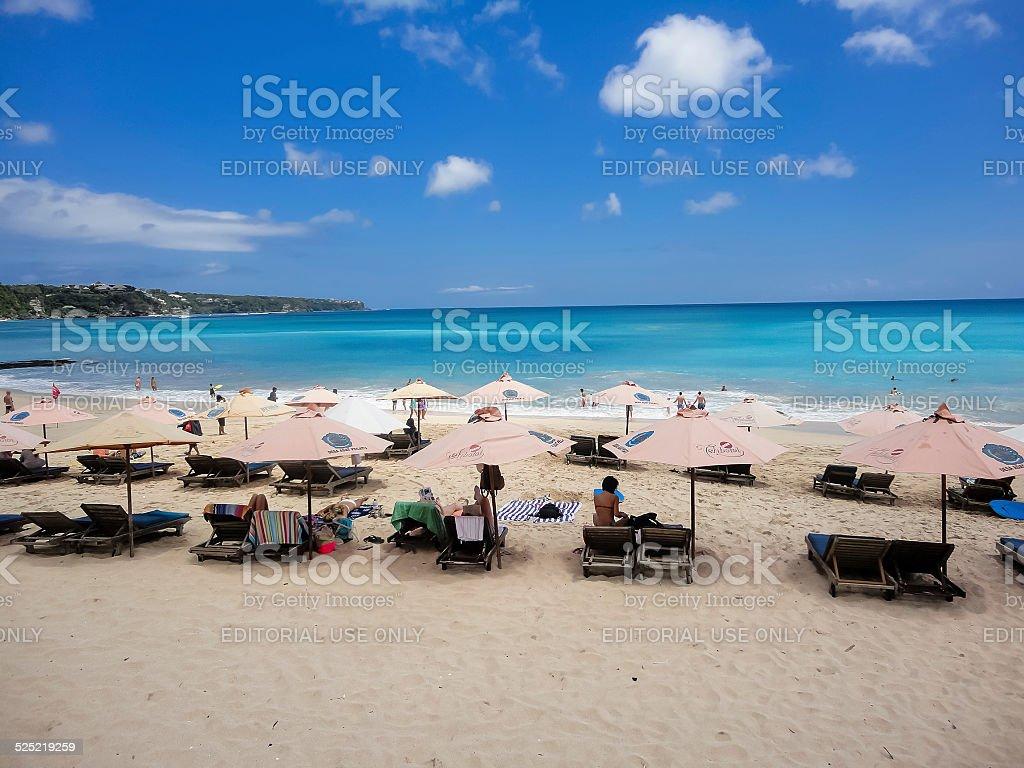 Dreamland beach at Bali stock photo