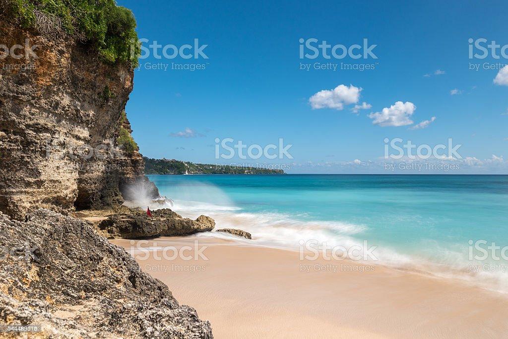 Dreamland beach in Bali stock photo