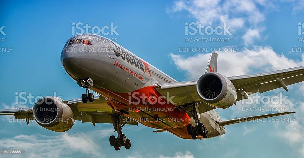 Dreamliner Boeing 787 stock photo