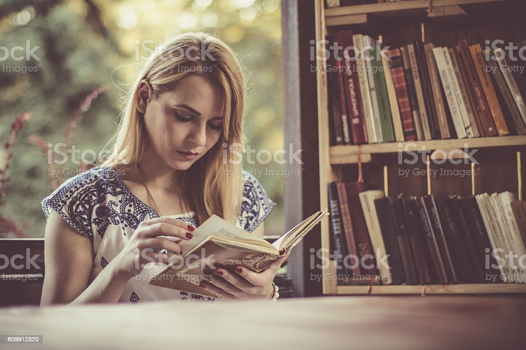 Dreams can come true by reading stock photo