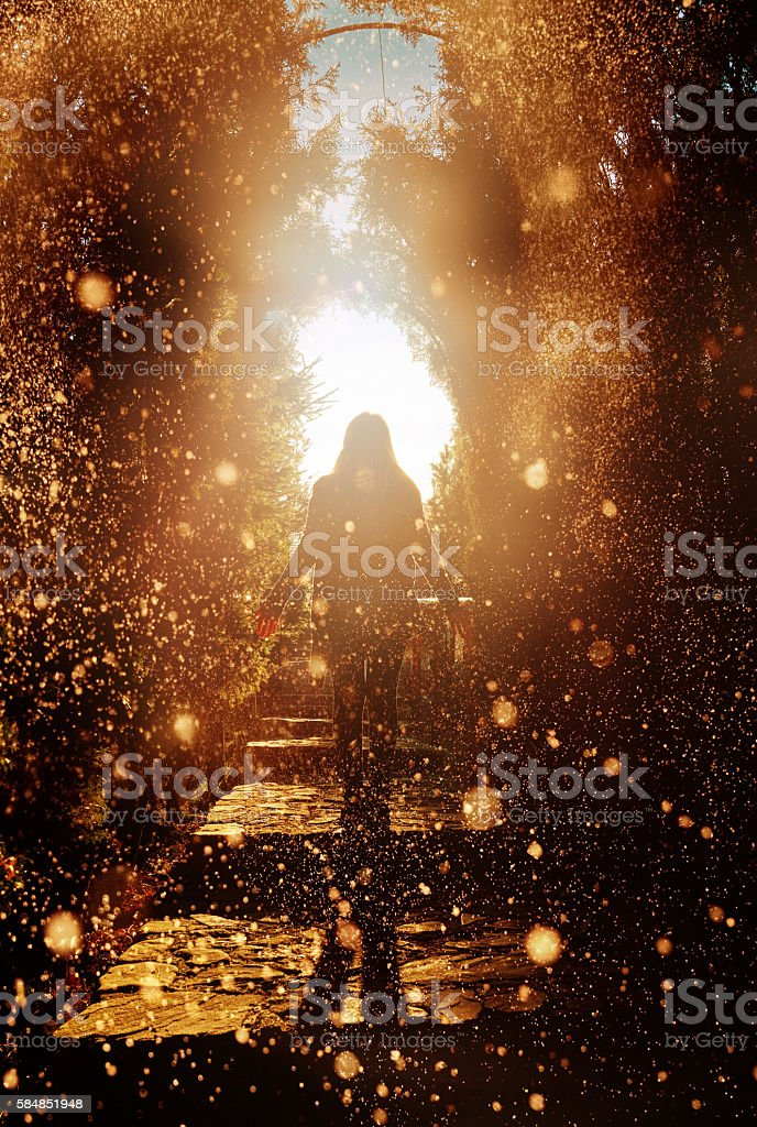 dreams, hope and emotion stock photo