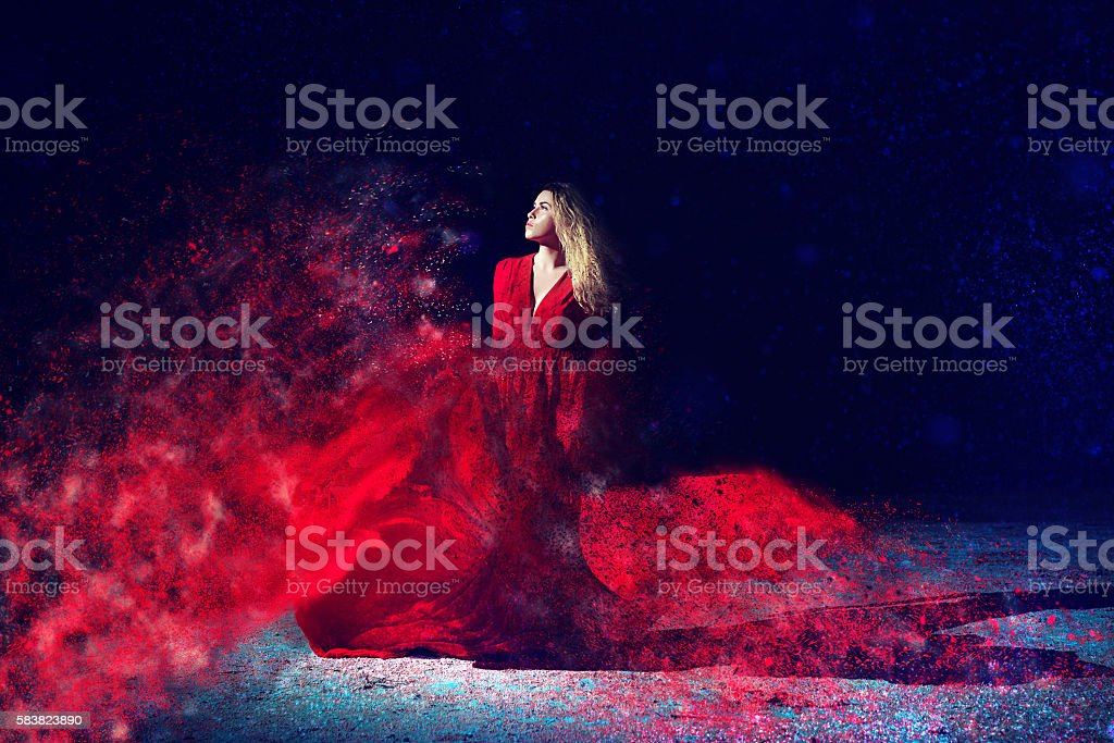 dreams in the night stock photo