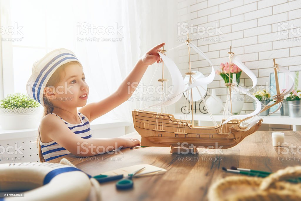 dreams of sea, adventures and travel stock photo