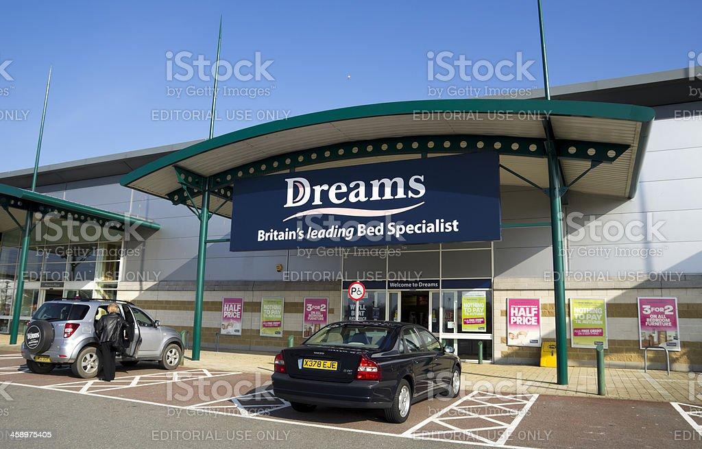 Dreams shop front stock photo