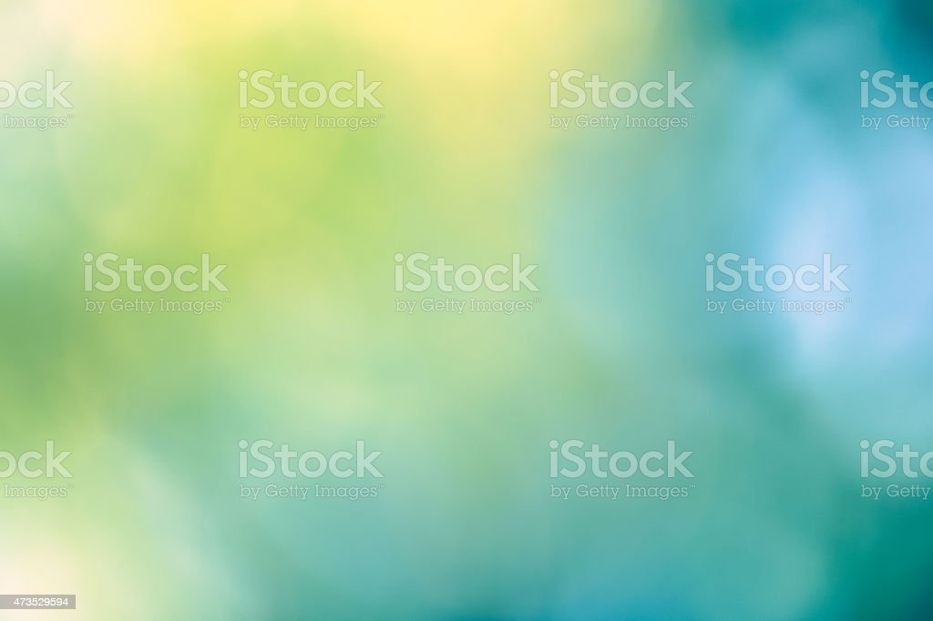 Dreamy Bokeh Background - Green & Blue stock photo