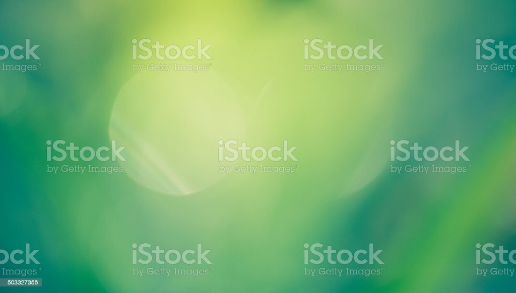 Dreamy Bokeh Natuare Background - Green & Yellow stock photo