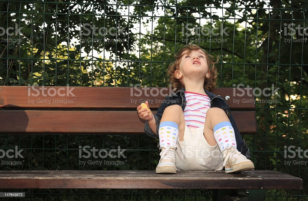 Dreamy child royalty-free stock photo