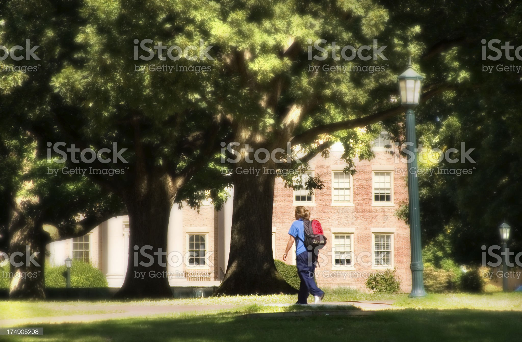 Dreamy Day On Campus royalty-free stock photo