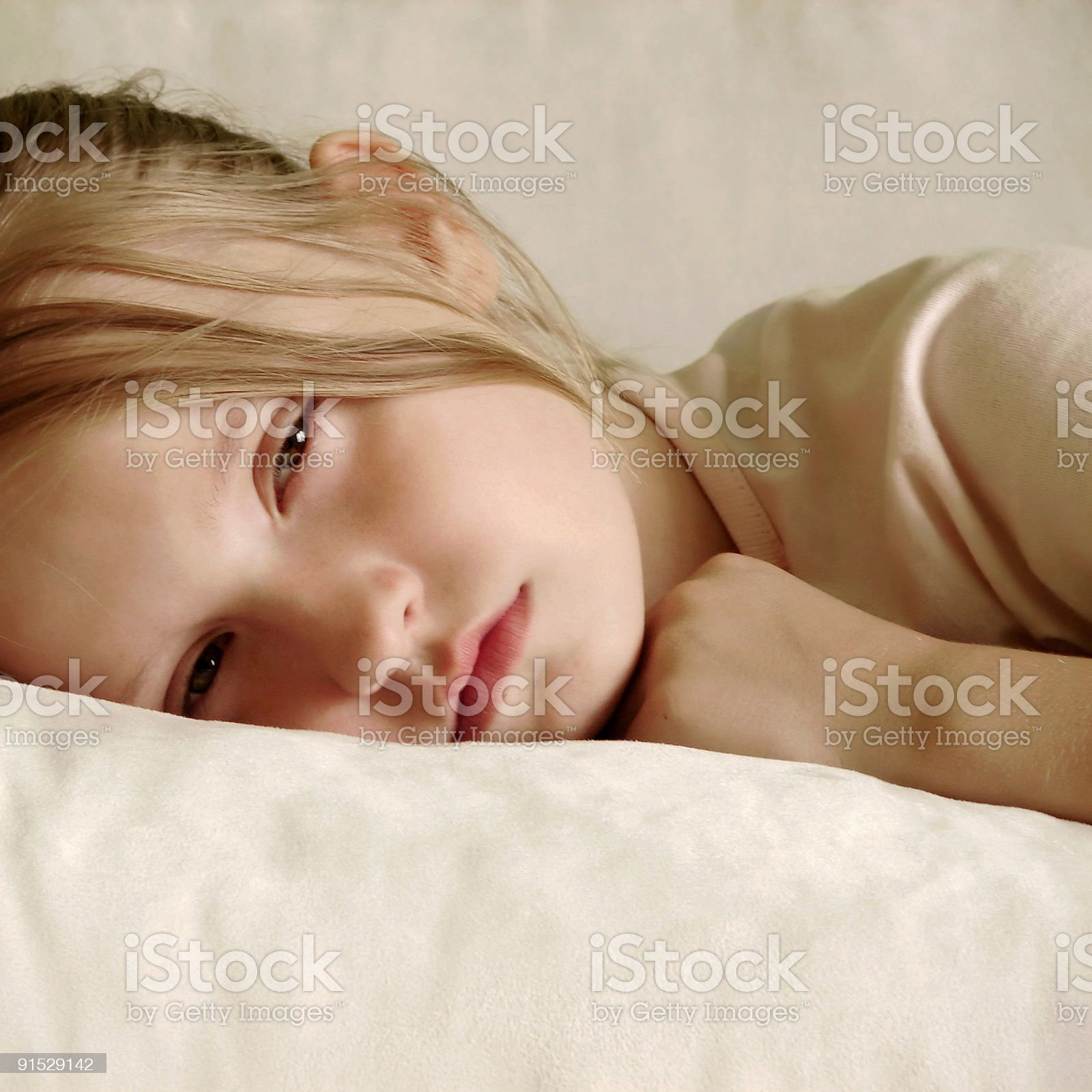 Dreamy girl royalty-free stock photo