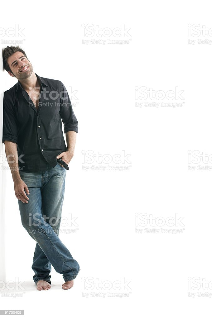 Dreamy latin man royalty-free stock photo