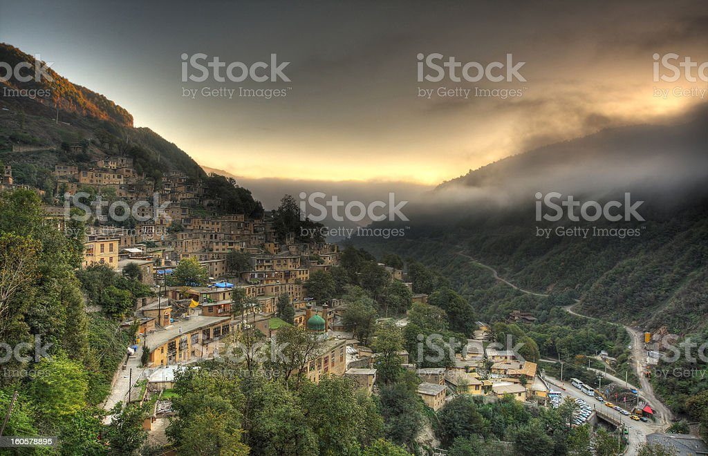 Dreamy Masooleh village stock photo
