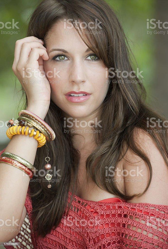Dreamy Outdoor Portrait (XXXL) royalty-free stock photo