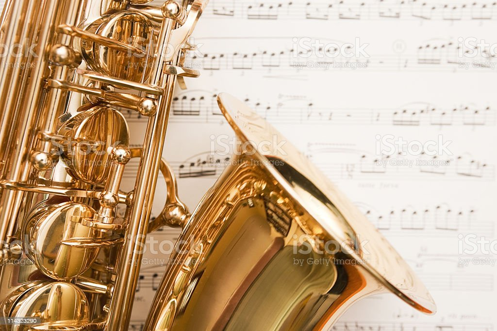 Dreamy saxophone on music royalty-free stock photo