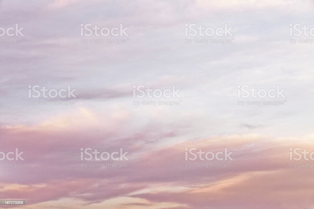 Dreamy Sky & Clouds in Pastel Colors Background stock photo