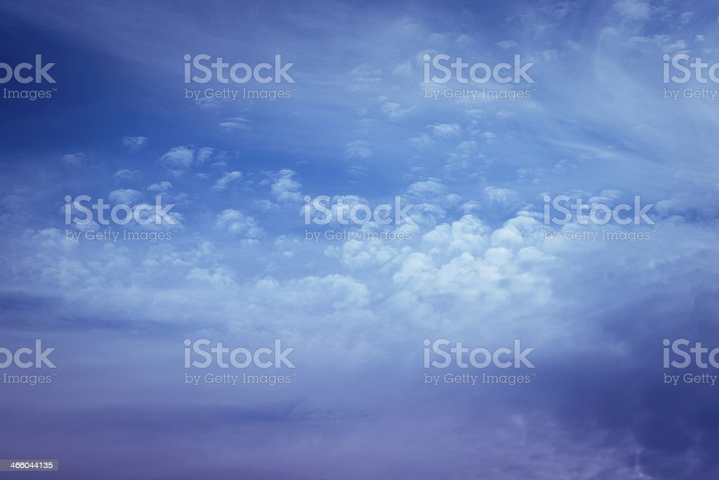 Dreamy sky with clouds royalty-free stock photo