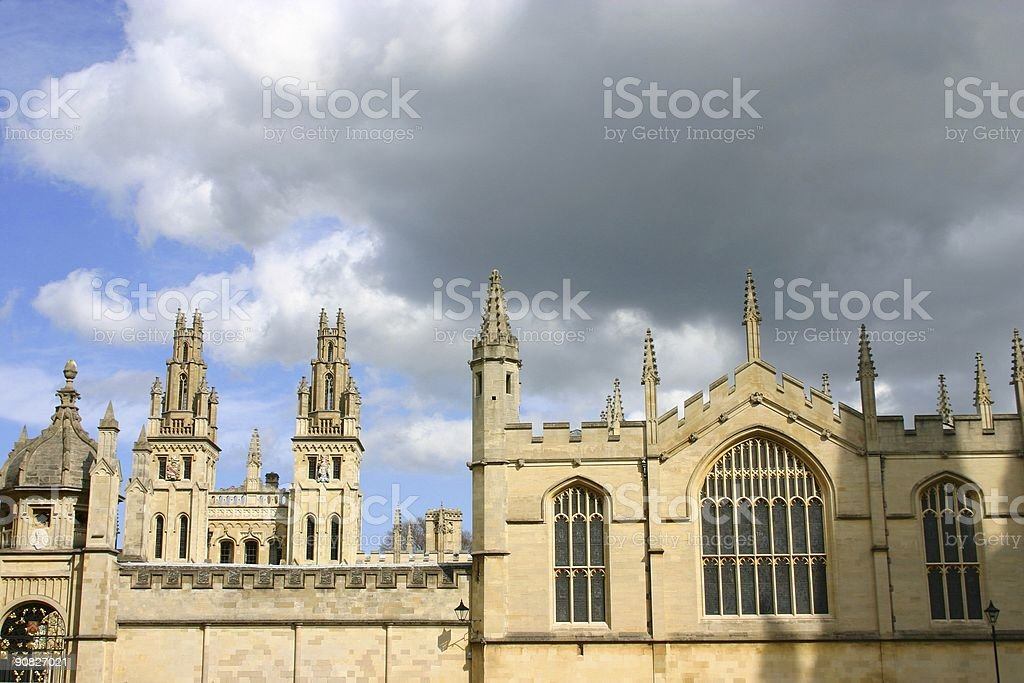 dreamy spires at Oxford University royalty-free stock photo