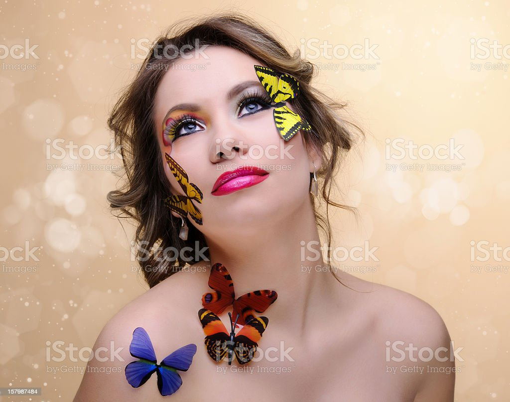 dreamy spring woman royalty-free stock photo