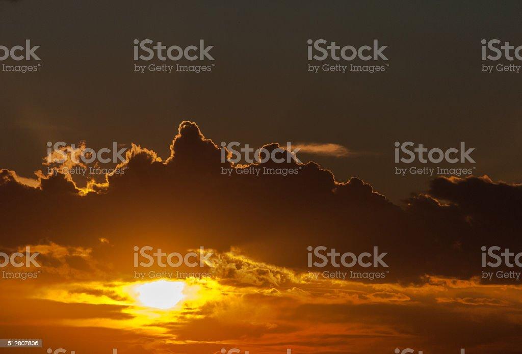 Dreamy sunset stock photo