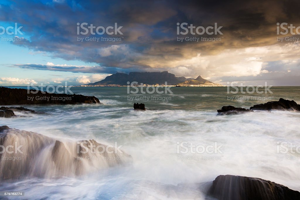Dreamy Table Mountain Landscape stock photo
