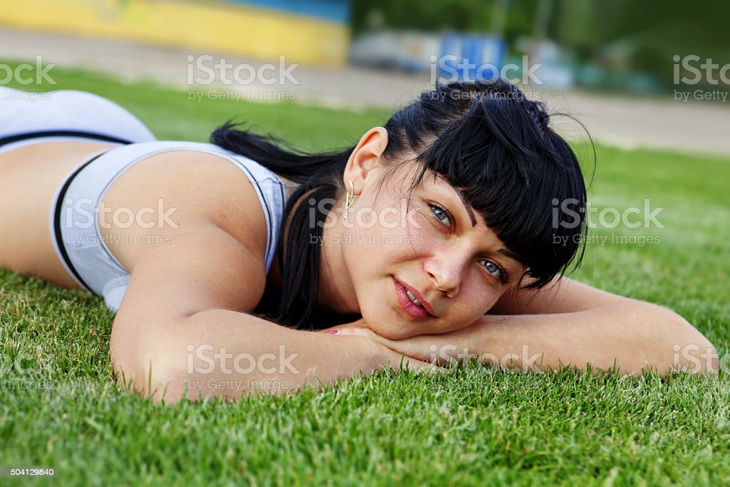 dreamy young girl stock photo
