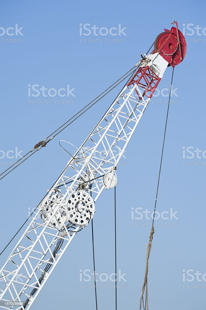 Dredge crain royalty-free stock photo
