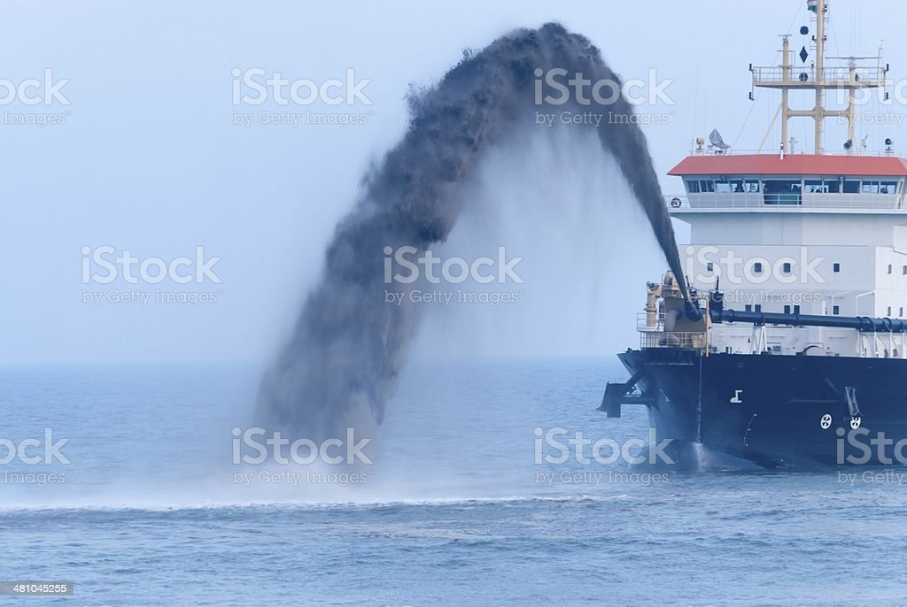 Dredger Spout Closeup stock photo