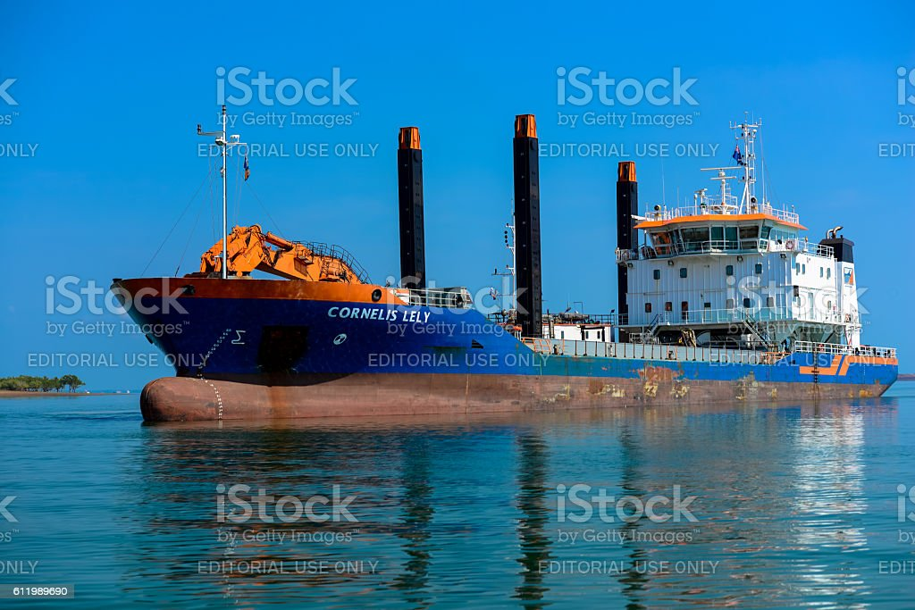 Dredging Operations stock photo