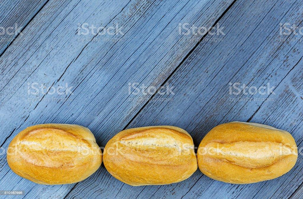 Drei Broetchen Reihe stock photo
