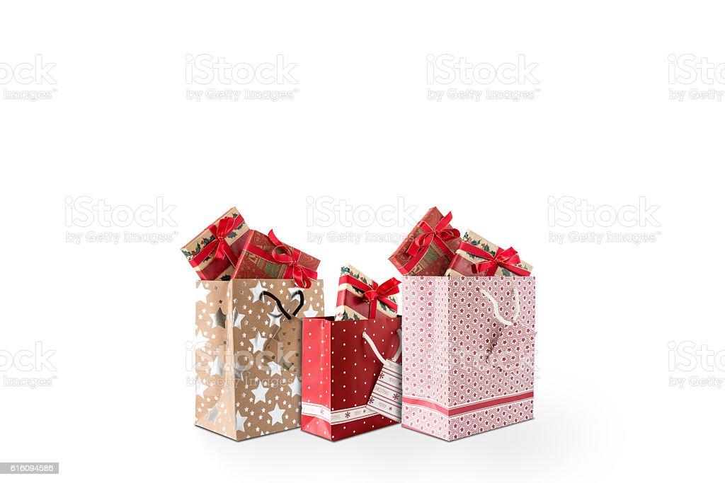 Drei Einkaufstaschen stock photo