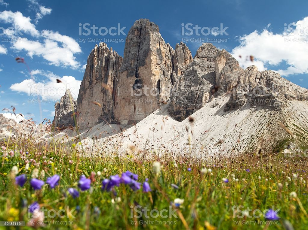 Drei Zinnen or Tre Cime di Lavaredo stock photo